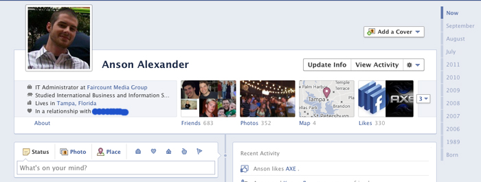 Facebook Timeline Enabled
