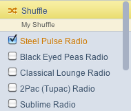 Select Pandora Stations