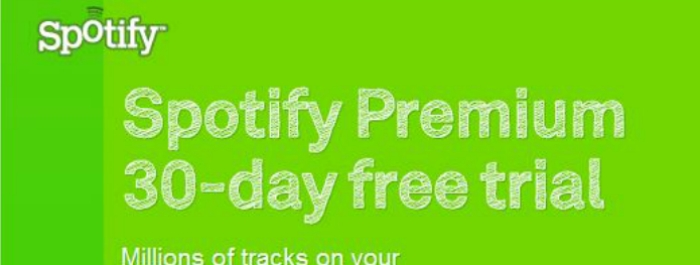 how to get spotify premium free trial