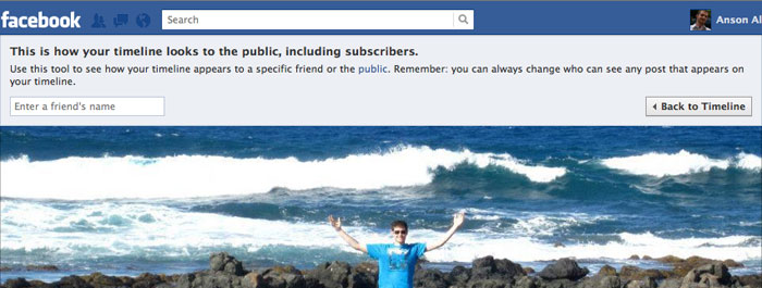 View Facebook Timeline as Public User