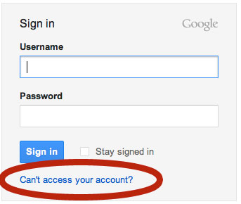 Gmail Recover Lost Password