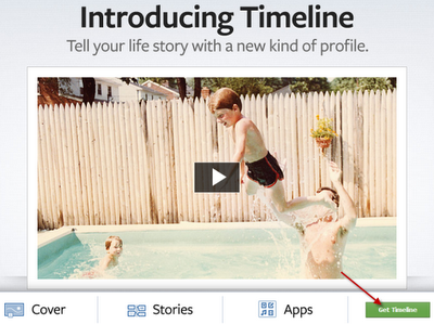 Facebook Timeline Green Button