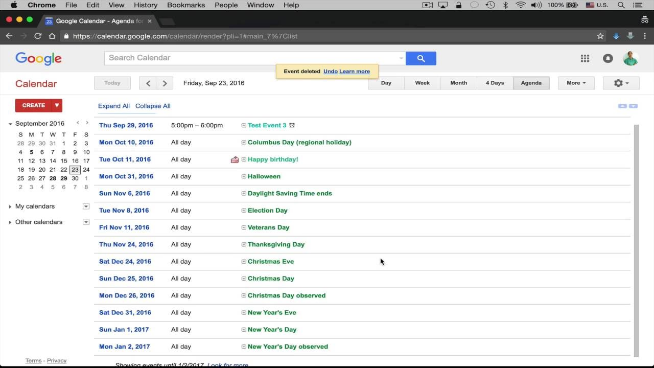 Google Calendar - Delete Multiple Events At Once ...